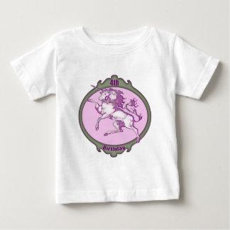 Unicorn 4th Birthday Gifts Baby T-Shirt