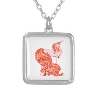 Unicorn 5 silver plated necklace