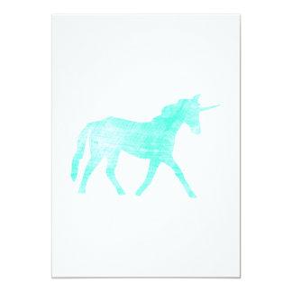 Unicorn 5x7 Paper Invitation Card