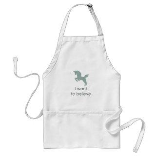 unicorn adult apron
