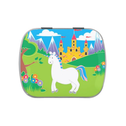 Unicorn and Castle Birthday Party Candy Tin Favors