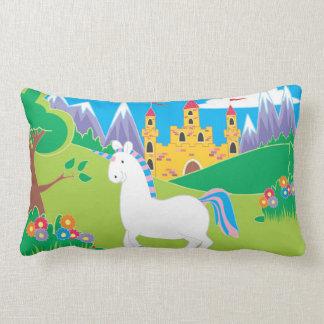 unicorn and castle pillow