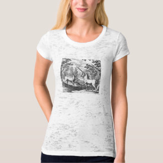 Unicorn and Deer Stag T Shirt
