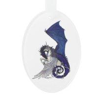 Unicorn and Dragon Ornament