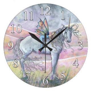 Unicorn and Fairy Fantasy Wall Clock