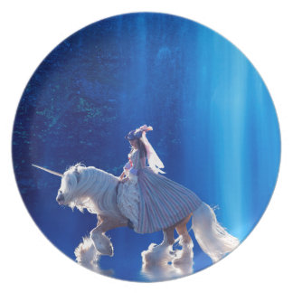 Unicorn and his mistress dinner plate