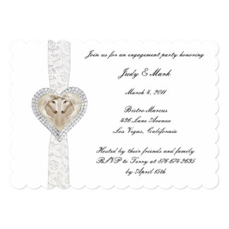Unicorn And Lace Engagement Party Invitation