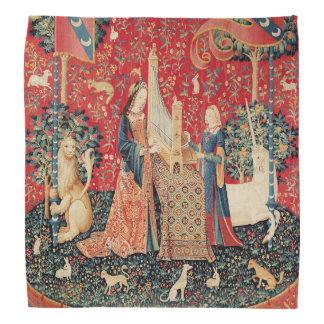 UNICORN AND LADY PLAYING ORGAN WITH ANIMALS BANDANA