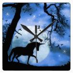 Unicorn and Moon Clock