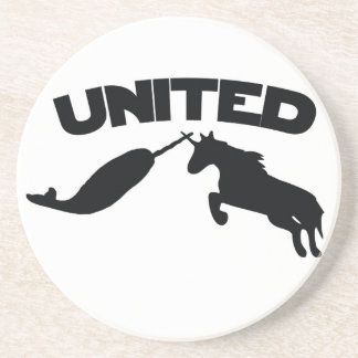 Unicorn and Narwhal Drink Coaster