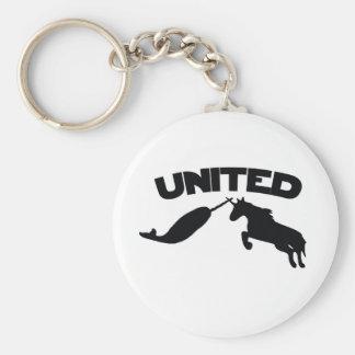 Unicorn and Narwhal Keychain