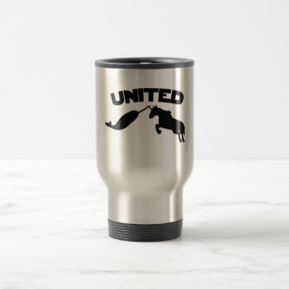 Unicorn and Narwhal 15 Oz Stainless Steel Travel Mug