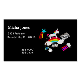 Unicorn And Penguin Craptastic Day Business Card Templates