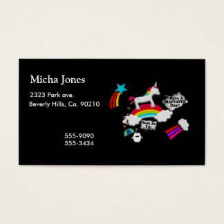 Unicorn And Penguin Craptastic Day Business Card