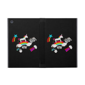 Unicorn And Penguin Craptastic Day Cover For iPad Mini