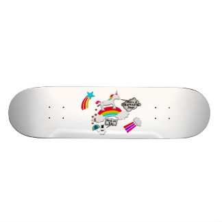 Unicorn And Penguin Craptastic Day Skateboard Deck