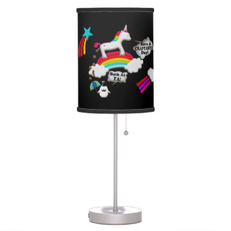 Unicorn And Penguin Craptastic Day Table Lamps