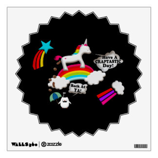 Unicorn And Penguin Craptastic Day Wall Skins