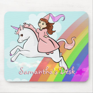 Unicorn and Princess Mousepad