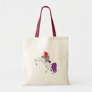 Unicorn and Raccoon Tote Bag