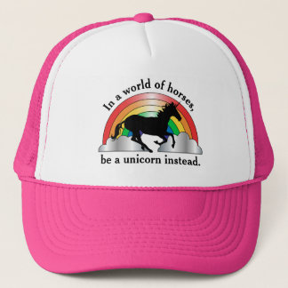 Unicorn and Rainbow Be A Unicorn Trucker Hat
