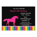 Unicorn and Rainbow Birthday Invitation for Girls