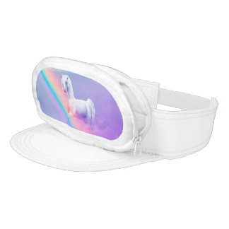 Unicorn and Rainbow Cap-Sac Visor