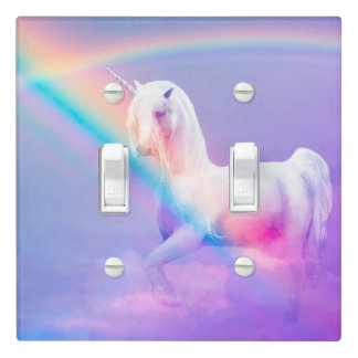 Unicorn and Rainbow Light Switch Cover