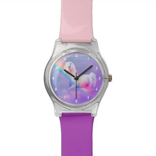 Zazzle Unicorn and Rainbow Watch