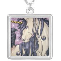 Unicorn and Raven Pendant