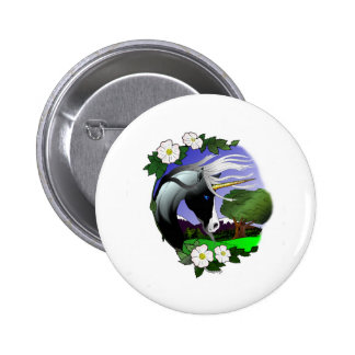 Unicorn and Roses III ©2011 Pinback Buttons