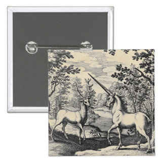 Unicorn and Stag Large Button