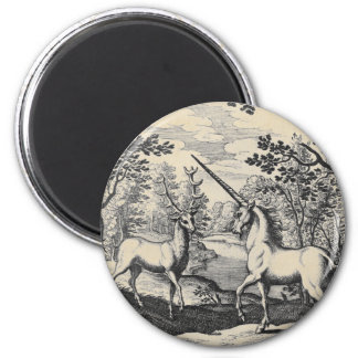 Unicorn and Stag Magnet