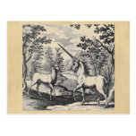 Unicorn and Stag Postcard