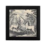 Unicorn and Stag Trinket Box