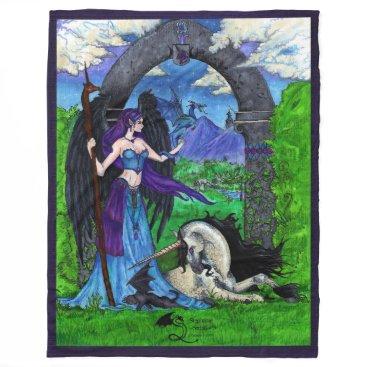 pegacorna Unicorn Angel Fleece Blanket