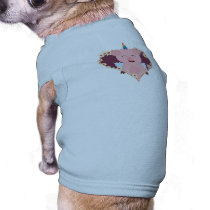 Unicorn angel pig in flower heart Zzvrv T-Shirt