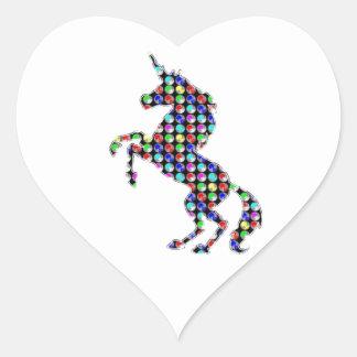 UNICORN animal fantasy dot kids navinJOSHI NVN90 Heart Sticker
