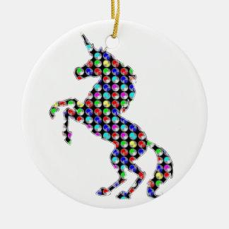 UNICORN animal fantasy dot kids navinJOSHI NVN90 Christmas Ornament