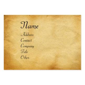 UNICORN / Antique Brown Parchment Large Business Card