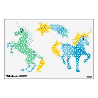 Unicorn Any Color Baby Girl's Room Wall Skins