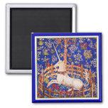 "Unicorn Art - ""The Unicorn in Captivity"" Refrigerator Magnet"