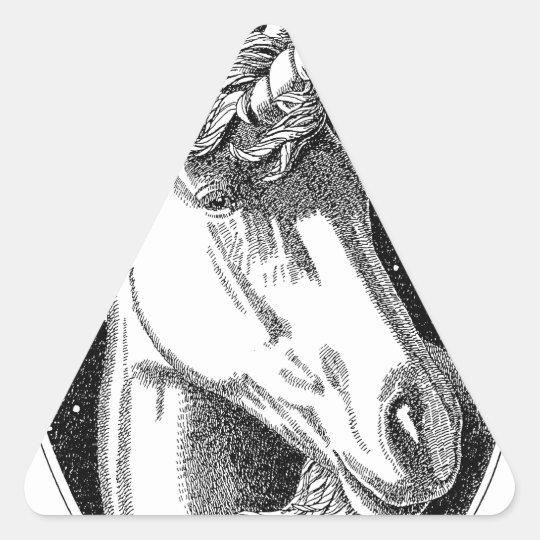 Unicorn B-W Products Triangle Sticker