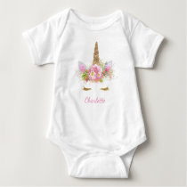 Unicorn Baby Shirt Unicorn Face Baby Shirts