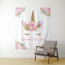 Unicorn Baby Shower Backdrop Tapestry