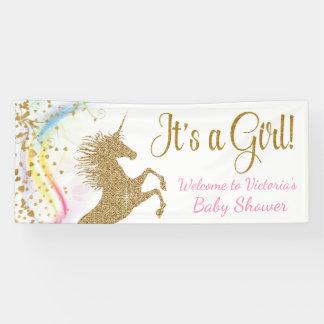 Unicorn Baby Shower Banner