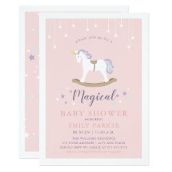 Unicorn Baby Shower Card