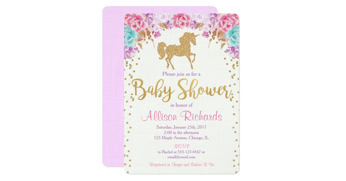 Watercolor Baby Shower Invitations Announcements – Baby Shower Invitation