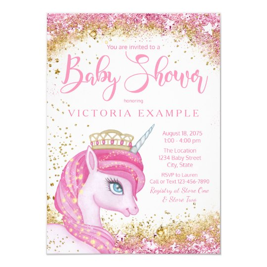 Unicorn Baby Shower Invitations