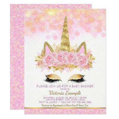 Elegant Unicorn Baby Shower Invitation Zazzle Com